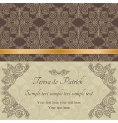 Baroque invitation brown vector