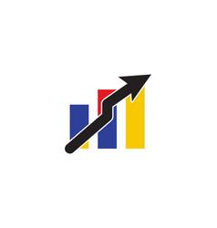 business chart logo vector image
