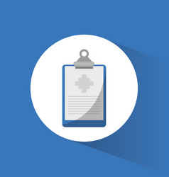 Clipboard medical report icon vector