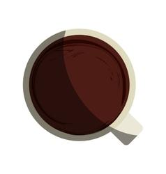 Coffee mug icon over white vector