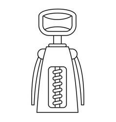 Corkscrew icon outline style vector