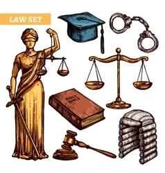 Decorative law set vector
