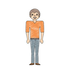 drawing man male father image vector image