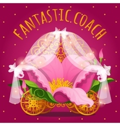 Fairytale carriage from Princess made of flower vector image vector image