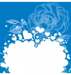 hearts and roses vector image vector image