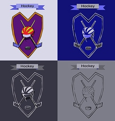 Hockey badge emblem symbol vector