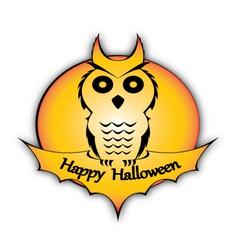 Holyday holloween owl vector