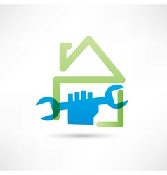 Home plumbing icon vector