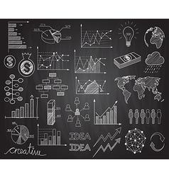 infographics doodles vector image