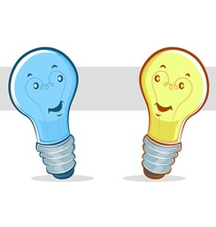 liight bulb cartoon vector image vector image