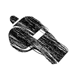 monochrome hand drawn sketch of whistle icon vector image
