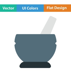 Mortar and pestel icon vector