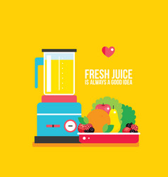 Organic fresh food fruits vegetables greens on vector