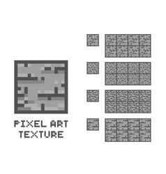 Pixel art stone texture stone wall pattern vector