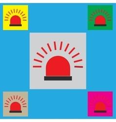 Police single flat icon vector image vector image