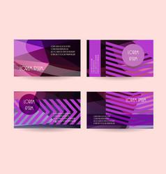 purple leaflet flyers header website backgrounds vector image vector image