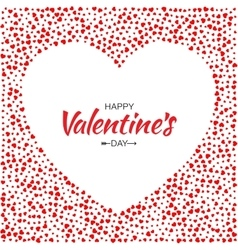 Red hearts frame background valentines day card vector