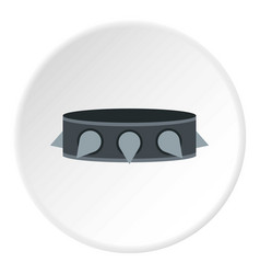Rock collar icon circle vector
