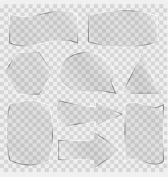 set of glass banners vector image