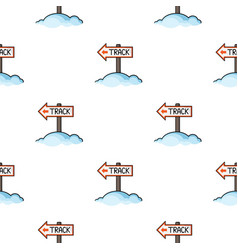 Signpost icon in cartoon style isolated on white vector