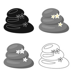Spa stone icon of for web and vector