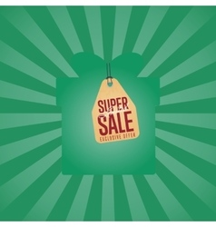 Super sale isolated discount sticker vector
