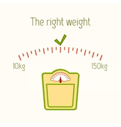 The right weight poster vector image vector image