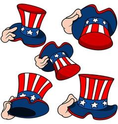 Uncle Sam Hat Set vector image vector image