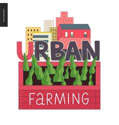 Urban farming and gardening logo vector