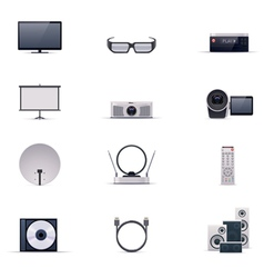 video electronics icon set vector image vector image