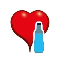 Water heart drink design vector
