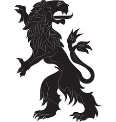 rampant lion vector image