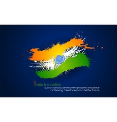 Grungy india background in tricolor vector