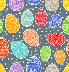 Happy Easter seamless background vector image