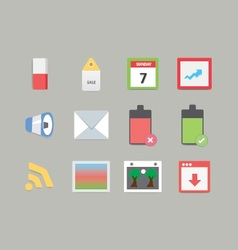 Modern Web Icons 2 vector image