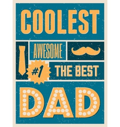Fathers day retro collage design greeting card vector