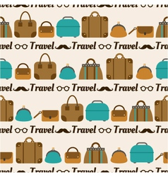 Seamless pattern of bags luggage baggage vector