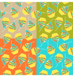 Sweet cake seamless pattern vector
