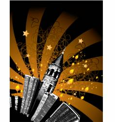 tower city vector image