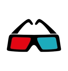 3d glasses icon movie design graphic vector