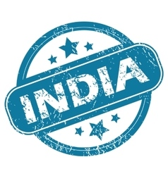 India round stamp vector