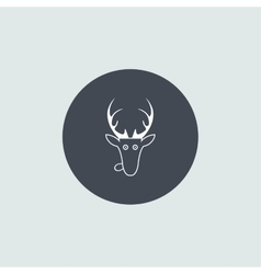 Christmas deer head icon vector