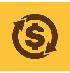 The currency exchange dollar icon cash and money vector
