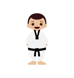 Cartoon taekwondo athlete vector