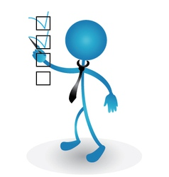 People and checklist graphic vector image