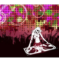 abstract music poster vector image