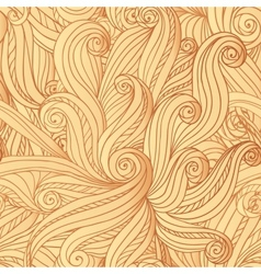 Abstract seamless hand-drawn hair pattern vector