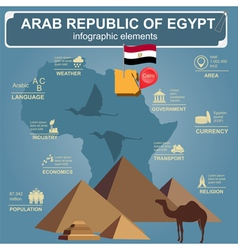 Arab republic Egypt infographics statistical data vector image vector image