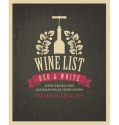 banner with a bottle of wine vector image vector image