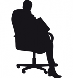businessman silhouette vector image vector image